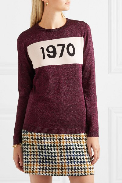 Bella Freud 1970 metallic wool-blend sweater in pink