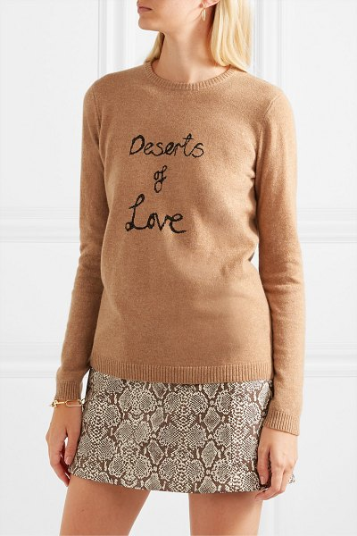 Bella Freud deserts of love cashmere-blend sweater in sand
