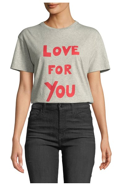 "Bella Freud Love For You Crewneck Tee in gray - Bella Freud ""Love For You"" statement tee. Crew neckline...."