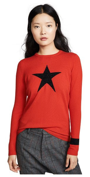 Bella Freud night star sweater in red