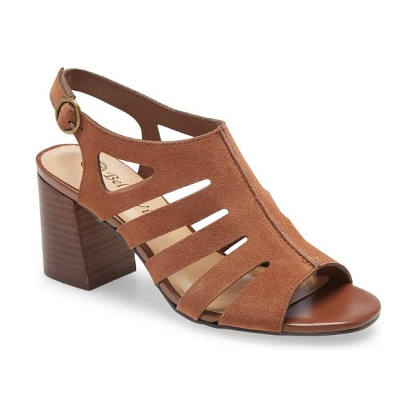 BELLA VITA colleen strappy sandal in camel suede leather