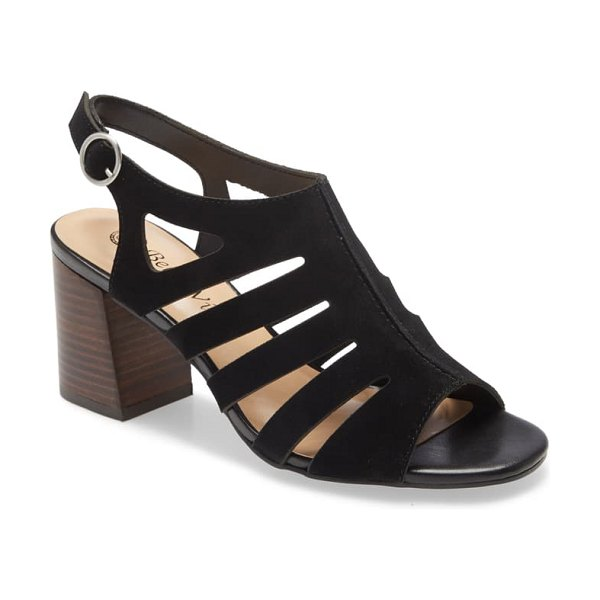BELLA VITA colleen strappy sandal in black suede leather