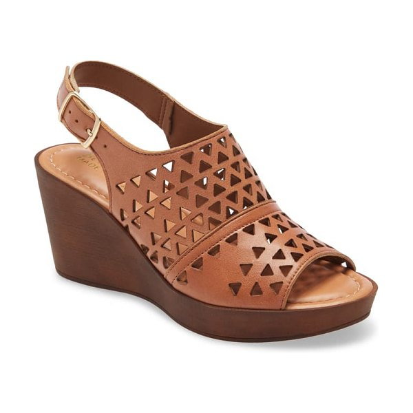 BELLA VITA italy cutout slingback sandal in whiskey italian leather