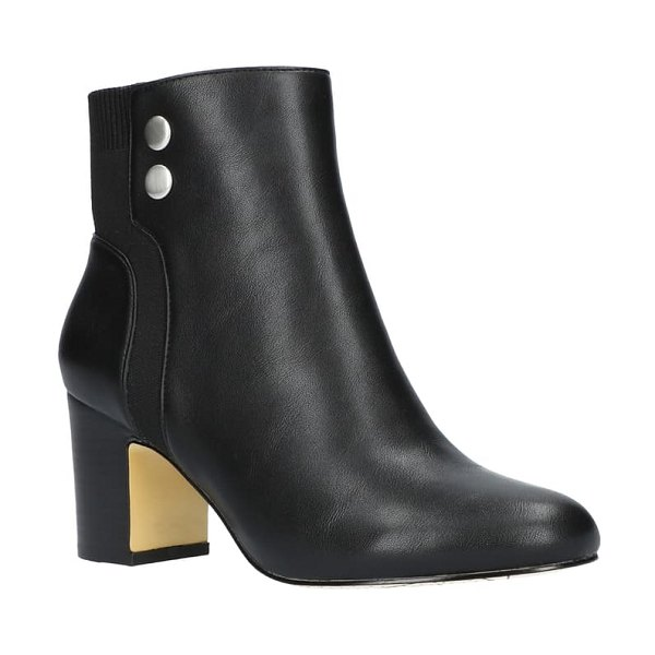 BELLA VITA jive bootie in black faux leather