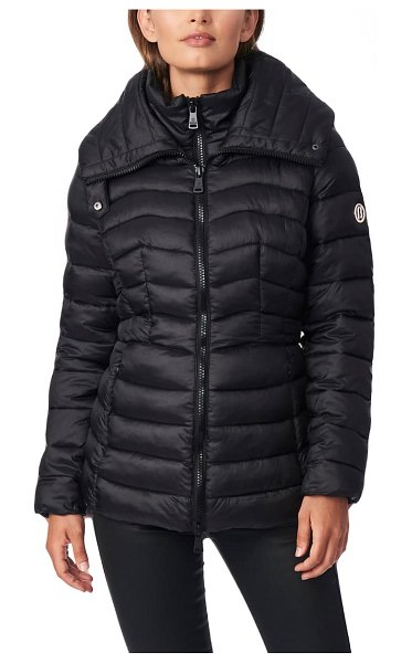 Bernardo packable ecoplume(tm) puffer jacket in black