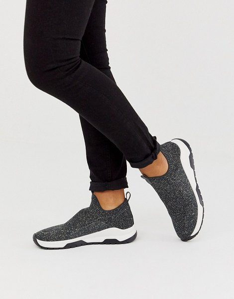 Bershka knitted pull on sneakers in gray in gray