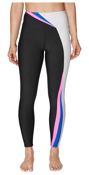 Betsey Johnson Performance Colorblock Leggings in black multi