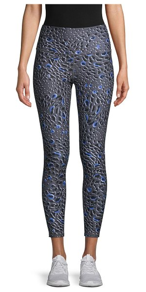 Betsey Johnson Performance Glacial Leopard-Print Leggings in azure