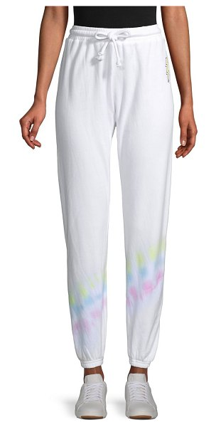 Betsey Johnson Performance Knit Sweatpants in white