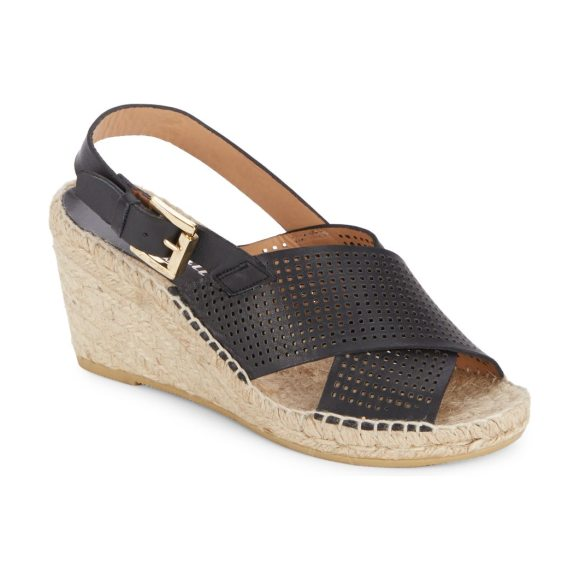Bettye Muller Direct Perforated Espadrille Wedges in black