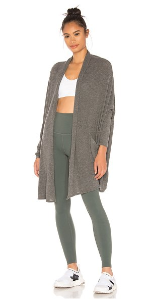 Beyond Yoga brushed up easy rider origami cardigan in mid heather grey - Beyond Yoga Brushed Up Easy Rider Origami Cardigan in...