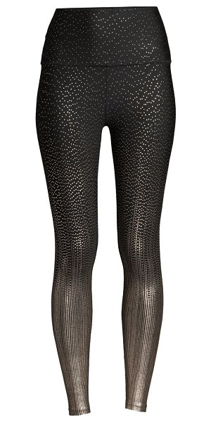 Beyond Yoga drip dot high-waisted leggings in black antique gold drip dot