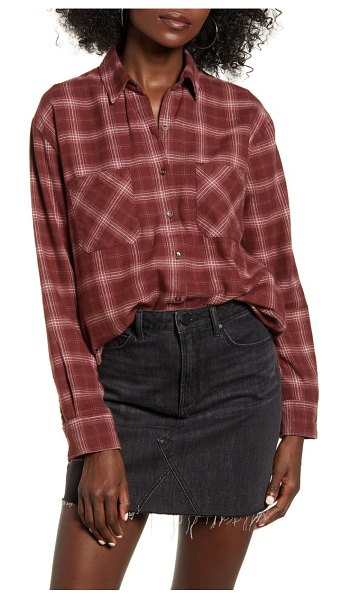 Billabong east light plaid shirt in coco berry