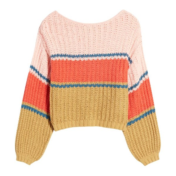 Billabong washed out stripe sweater in wild honey