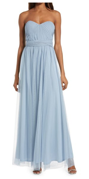 BIRDY GREY christina convertible tulle gown in dusty blue