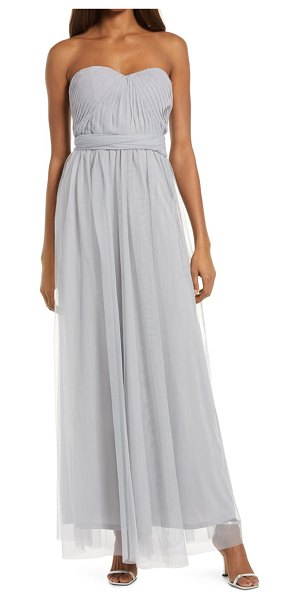 BIRDY GREY christina convertible tulle gown in silver