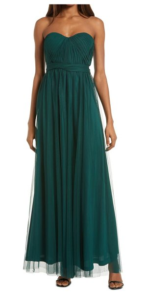 BIRDY GREY christina convertible tulle gown in emerald