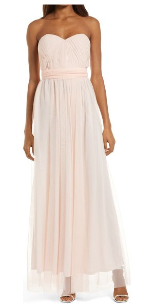 BIRDY GREY christina convertible tulle gown in blush pink