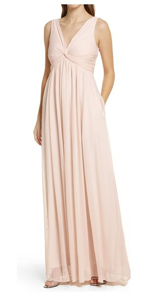 BIRDY GREY lianna empire waist sleeveless gown in pale blush
