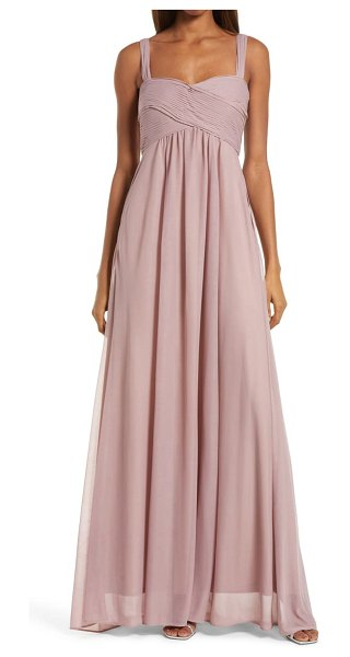 BIRDY GREY maria convertible sleeve tulle gown in mauve