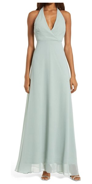 BIRDY GREY moni convertible halter neck chiffon gown in sage