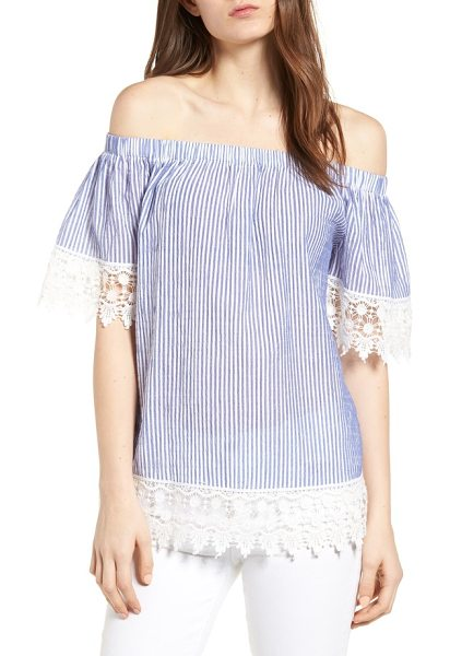 22fce6c651f BISHOP AND YOUNG Bishop + Young St Tropez Off The Shoulder Top in ...