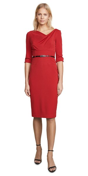 Black Halo 3/4 sleeve jackie o dress in red