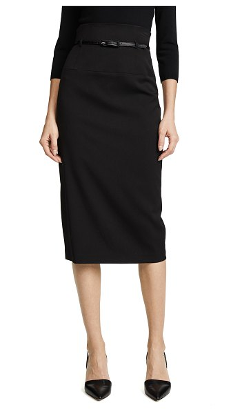 Black Halo high waisted pencil skirt in black