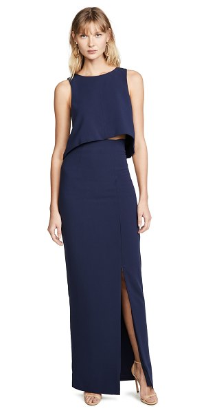 Black Halo kacie 2 piece maxi dress in pacific blue