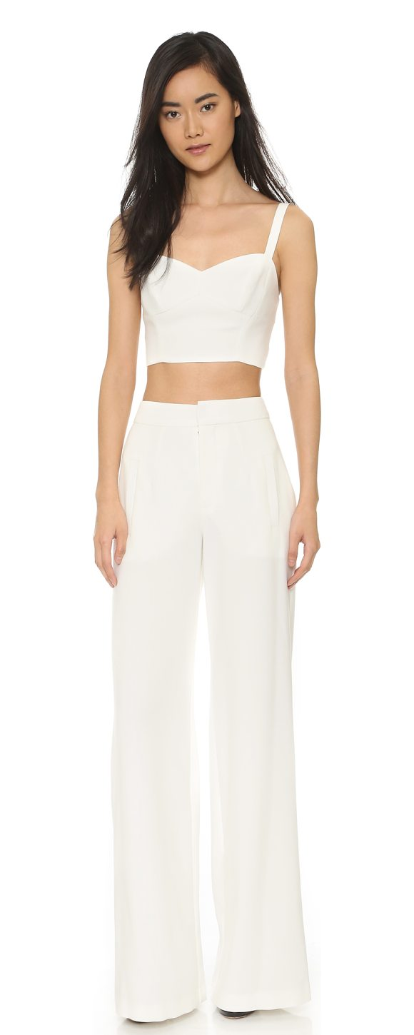 7569bd14adcb Black Halo kalem 2 piece jumpsuit in white - This Black Halo jumpsuit may  be worn