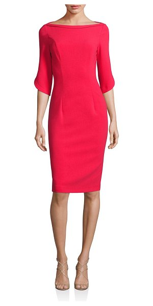 Black Halo petal sleeve dress in chic red
