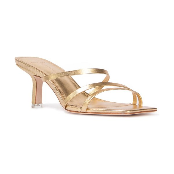 BLACK SUEDE STUDIO felicity strappy sandal in gold leather