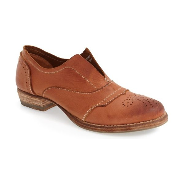 Blackstone 'hl55' slip-on oxford in rusty brown leather