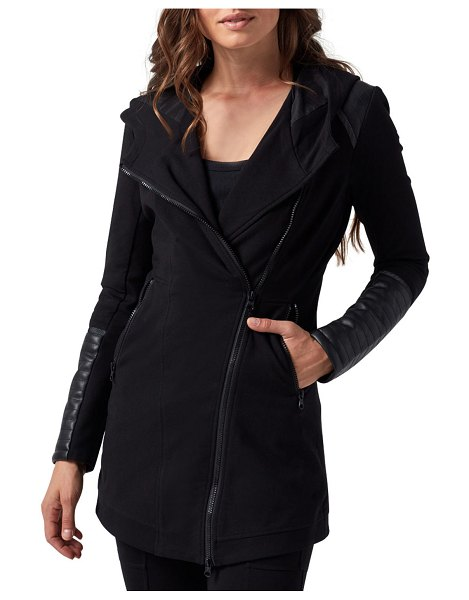 Blanc Noir Hooded Traveler Jacket in black
