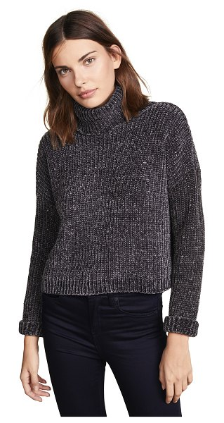 Blank Denim chenille sweater in mica - Fabric: Chenille Pullover style Waist-length style...