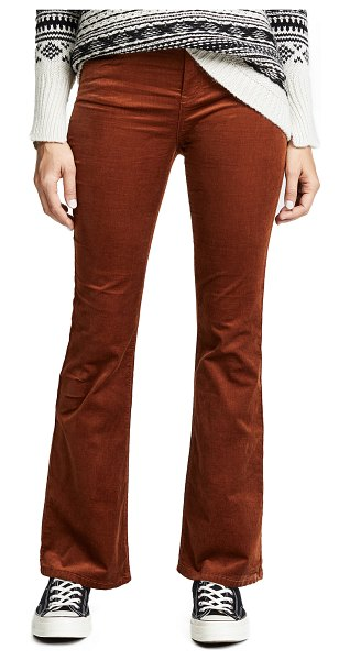 Blank Denim corduroy flare jeans in foxy brown - Fabric: Stretch corduroy Logo patch at back Flare...