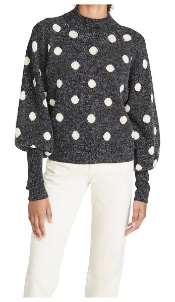 Blank Denim puff sleeve sweater in classic mixup