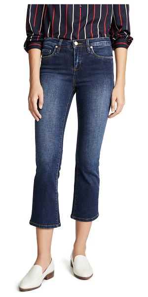 Blank Denim the varick high rise kick flare jeans in the misfit wash - Fabric: Stretch denim Flare silhouette Cropped profile...