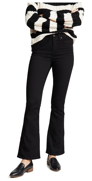 Blank Denim the waverly high rise flare jeans in the gotham wash - Fabric: Denim Flare silhouette Ankle length Button at...