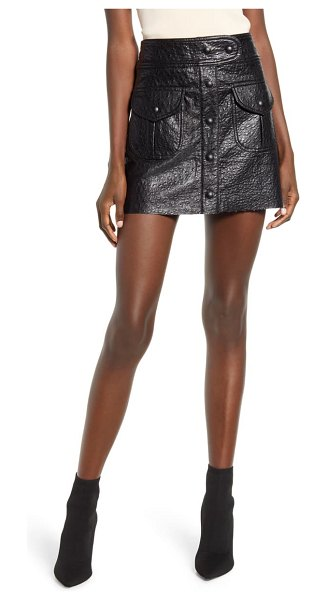 BLANK NYC faux leather miniskirt in american hustler