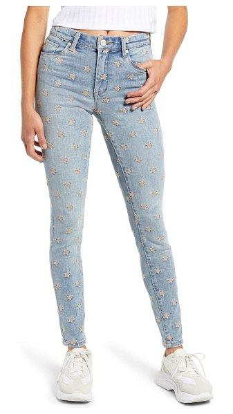 BLANK NYC madison star embroidered high waist crop skinny jeans in ever after