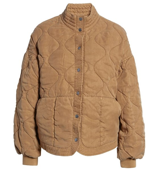 BLANK NYC quilted jacket in chai tea