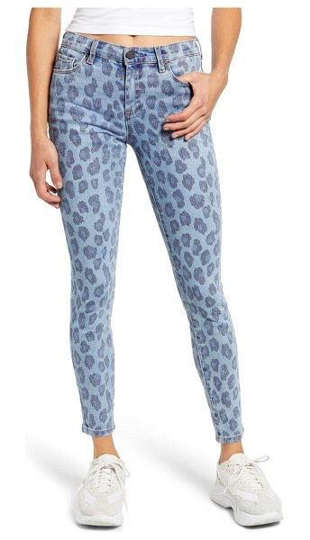 BLANK NYC the bond leopard print ankle skinny jeans in wild side