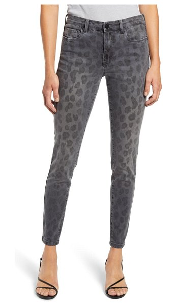 BLANK NYC the bond leopard print ankle skinny jeans in jungle queen