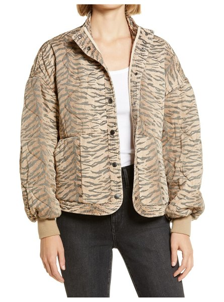 BLANK NYC tiger print quilted jacket in on the prowl