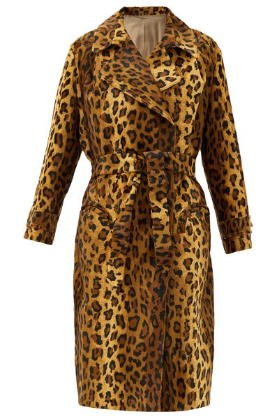 BLAZÉ MILANO be fear wait leopard-print cotton-blend coat in leopard
