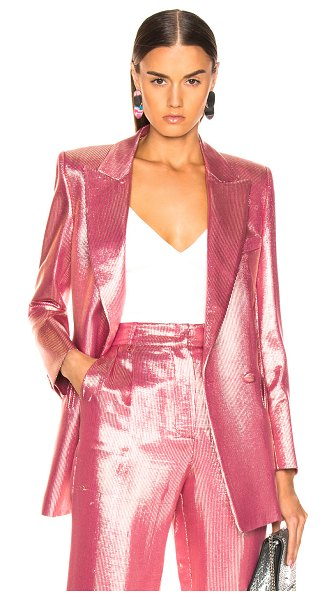 Blaze Milano Diva Royal Everyday Blazer in animal print,pink,white - Silk blend.  Made in Italy.  Dry clean only.  Button...