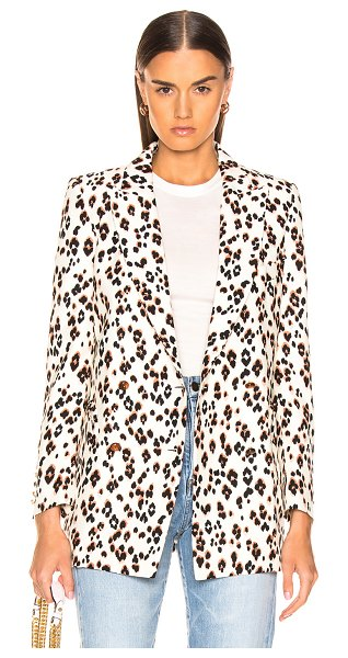 Blaze Milano Manitou Everyday Blazer in animal print,white - Silk/viscose blend.  Made in Italy.  Dry clean only. ...