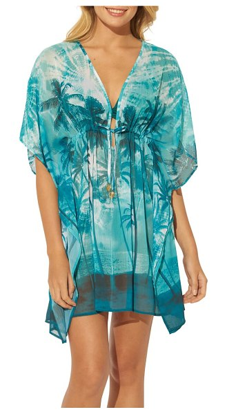 Bleu By Rod Beattie cover-up caftan in tropic thunder