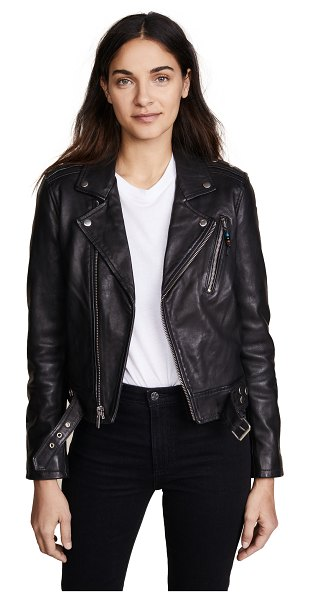 BLK DNM leather jacket 1 in black